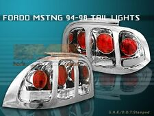 94-98 FORD MUSTANG ALTEZZA TAIL LIGHTS CHROME 95 96 97