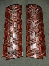 J 1911 Grips Chevron Red Dymondwood 1911A1 Colt Kimber Springfield Micarta