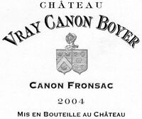 CHATEAU VRAY CANON BOYER 2004 CANON FRONSAC 6 MAGNUMS