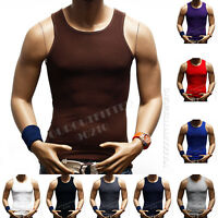 3  Big &Tall 100% Cotton Men's A-Shirt GYM T-Shirt Ribbed Muscle Tank Top S-5X