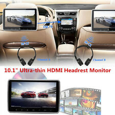 "Headrest DVD Player Multimedia Monitor Kit 10.1"" HD Universal for Car Back Seat"