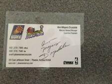 Ann Meyers Drysdale Signed Business Card Hof Autograph Auto Phoenix Mercury