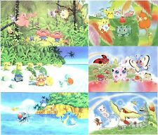 Lot de 6 Cartes POSTALES POKEMON SOUTHERN ISLAND neuves (Dos BLEU) Original 1998
