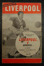 LIVERPOOL V ARSENAL   11/12/1965 - LEAGUE CHAMPIONS
