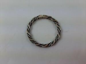 """Vintage Solid Sterling Silver Key Ring 1 1/2"""" Round ~ 7.9 grams ~ Estate Find"""