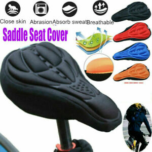 MTB Mountain Bike Silicone Gel Pad Cushion Cover Cycling  Ultra Soft Saddle Seat