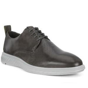 ECCO Men's ST.1 Hybrid Lite Plain-Toe Derby Shoes Titanium (Sizes 41 - 47) / NEW