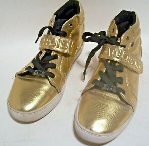 Men's Android Homme Metallic Gold  Mid Top Sneaker Shoes Size 11.5
