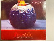 New listing New Fireside Hand Glazed Ceramic Fire Burner, Evergreen Flag & Garden Style