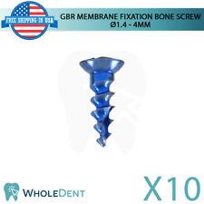 10x GBR System Titanium Membrane Fixation Bone Screw Ø1.4 - 4mm, Dental Implant