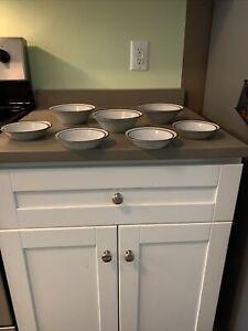 Vintage Noritake Stoneware Tundra Brown BandTan Body Soup/Cereal Bowl & Dessert