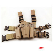 Tactical Airsoft Right Leg Paddle Belt Thigh Hand Drop Holster for M9 M92 DE