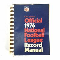 1976 Official National Football League NFL Record Manual