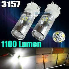 2X 1100 Lumens 3157 2538 Chip 6000K Xenon White Backup Reverse LED Lights Bulbs