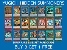YuGiOh Hidden Summoners Super Rare & Secret Rate - HISU - Buy 3 Get 1 Free