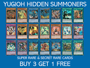 YuGiOh Hidden Summoners Super Rare & Secret Rate - HISU - Buy 3 Get 1 Free
