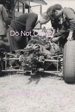 Colin Chapman working on Jim Clark's Lotus 25 F1 Season 1962 Photograph