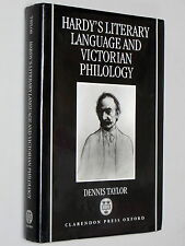 THOMAS HARDY's Literary Language & Victorian Philology - Dennis Taylor SIGNED hb