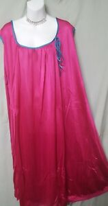 """Only Necessities BERRY TEAL NIGHTGOWN CALF LENGTH SLEEVELESS SIZE 5X   76"""" BUST"""
