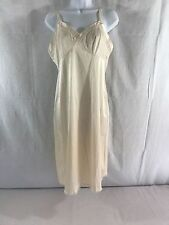 EUC Very Cute Vintage Lorraine Nightgown Satin & Lace lingerie Sz Tall 38 Cream