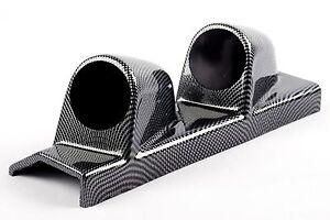 Double Pillar Mount 2 Gauge Holder 52mm Carbon fibre effect LEFT HAND DRIVE pod