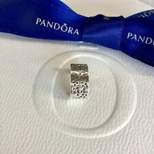 Authentic Pandora Silver Breast Cancer Awareness Lucerne Clip Charm #790571