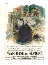 Publicité ancienne Chocolat Marquise de Sévigné 1950 issue de magazine