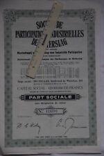 Genk 3600 Winterslag 5 actions Société industrielle de Winterslag Charbonnages