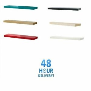 Ikea Lack Wall Floating Shelves Display in Various Sizes & Colors - FAST POST
