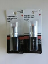 NEW Lot 2 CoverGirl Lipstick Continuous Color Bronzed Peach Shimmer 3g