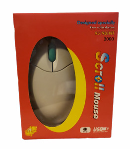 Vintage USB Scroll Mouse KM-320 For Windows 95/98/NT/2000