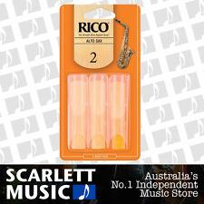 Rico Alto Sax Eb Saxophone 3 Pack Reeds Size 2 ( Two ) RJA0320 3PK