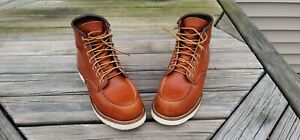 """Red Wing Style 875 Classic Moc Men's 6"""" Boots - Brown, 8 US ( WORN TWICE!)"""