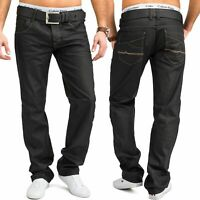 Herren Regular Fit Jeans Grau Coloured Glanz Hose 100% Baumwolle W34 - W44
