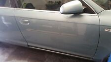 AUDI A6 C6 FRONT RIGHT DRIVER SIDE BARE PANEL DOOR IN BLUE LY5R
