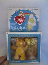 1980s CARE BEAR POSEABLE FIGURE FUNSHINE BEAR WT SUN-CATCHER IN BOX