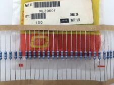 (100 pcs) ML2000F Ohmite, 1/2 Watt  200 Ohm  1%, Metal Film Resistor (Axial)
