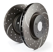 EBC Turbo Grooved Front Vented Brake Discs for Subaru Justy G3X 1.5 (2003 on)
