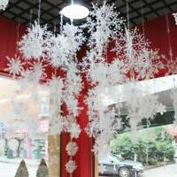 45PCS Christmas Snowflakes Decorations Party White Tree Ornaments Outdoor Xmas