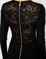 New Ted Baker Mayaa Embroidered Lace Back Tulip Bodycon Dress Sz 1,3