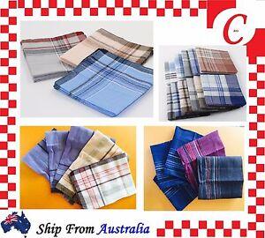 Men Mens HANDKERCHIEFS 100%Pure Cotton Pocket Square Hanky Handkerchief New Bulk