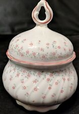 Vintage Seltmann Weiden Bavaria REGINA W. German Flowers Covered Dish Bowl