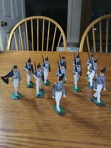 Marx Warriors of the World - Lot of  12 West Point Cadet Figures