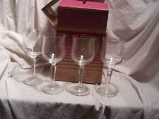 4 Vintage American Stemware Elite Blown Lead Crystal Wine Glass Town Country NIB