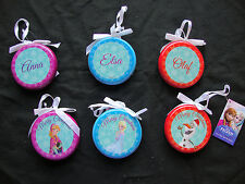 Set of 6 Disney Frozen Christmas Tree bauble Decorations Decoupage Tree Hangers