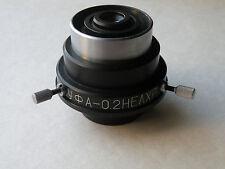 LOMO ultraviolet condenser UV УФ A - 0,2 no achrom microscope Olympus ZEISS d=37