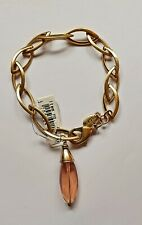 Pilgrim Gold Links Bracelet with Pink Stone
