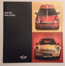 MINI ONE & COOPER orig 2001 UK Mkt Small Format Sales / Specs Brochure