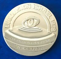 Israel Medal Eurovision Music Contest Songs Jerusalem 1979 Bronze Silver Plated
