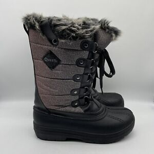 Quest Women's Powder 200g Winter Boots- qcwwp16-gry - Size 9
